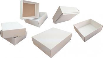 Картонная коробка крышка-дно
