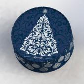 Круглые коробки из монокартона для новогодних подарков