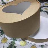 Круглые коробки из пищевого картона. Диаметры: 22 и 27 см, высота 13 и 15 см