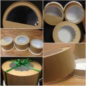 Тортовые коробки диаметр 22 и 27см, высота - по желанию заказчика