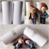Тубусы для упаковки кукол ручной работы диметр 12см, высота 25см
